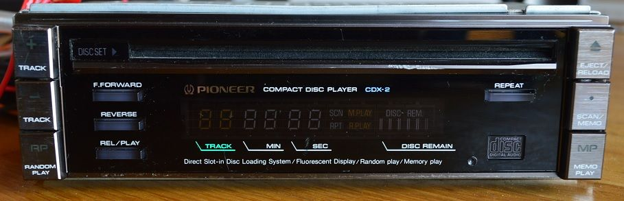 pioneer cdx 2 vintage car hifi cd player centrate cdx 2. Black Bedroom Furniture Sets. Home Design Ideas