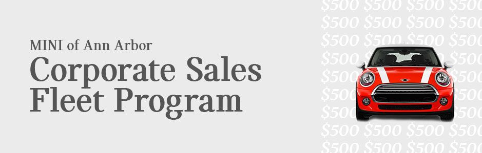 MINI Corporate Sales Fleet Program Near Detroit, MI
