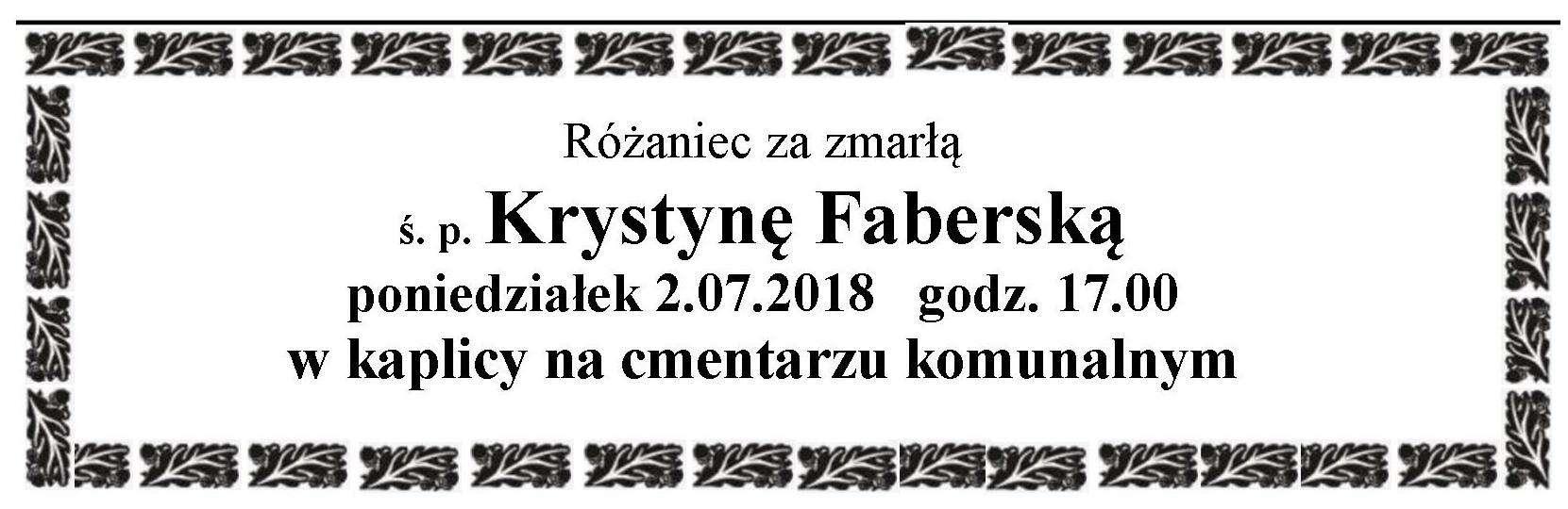 Żyli wśród nas – Krystyna Faberska