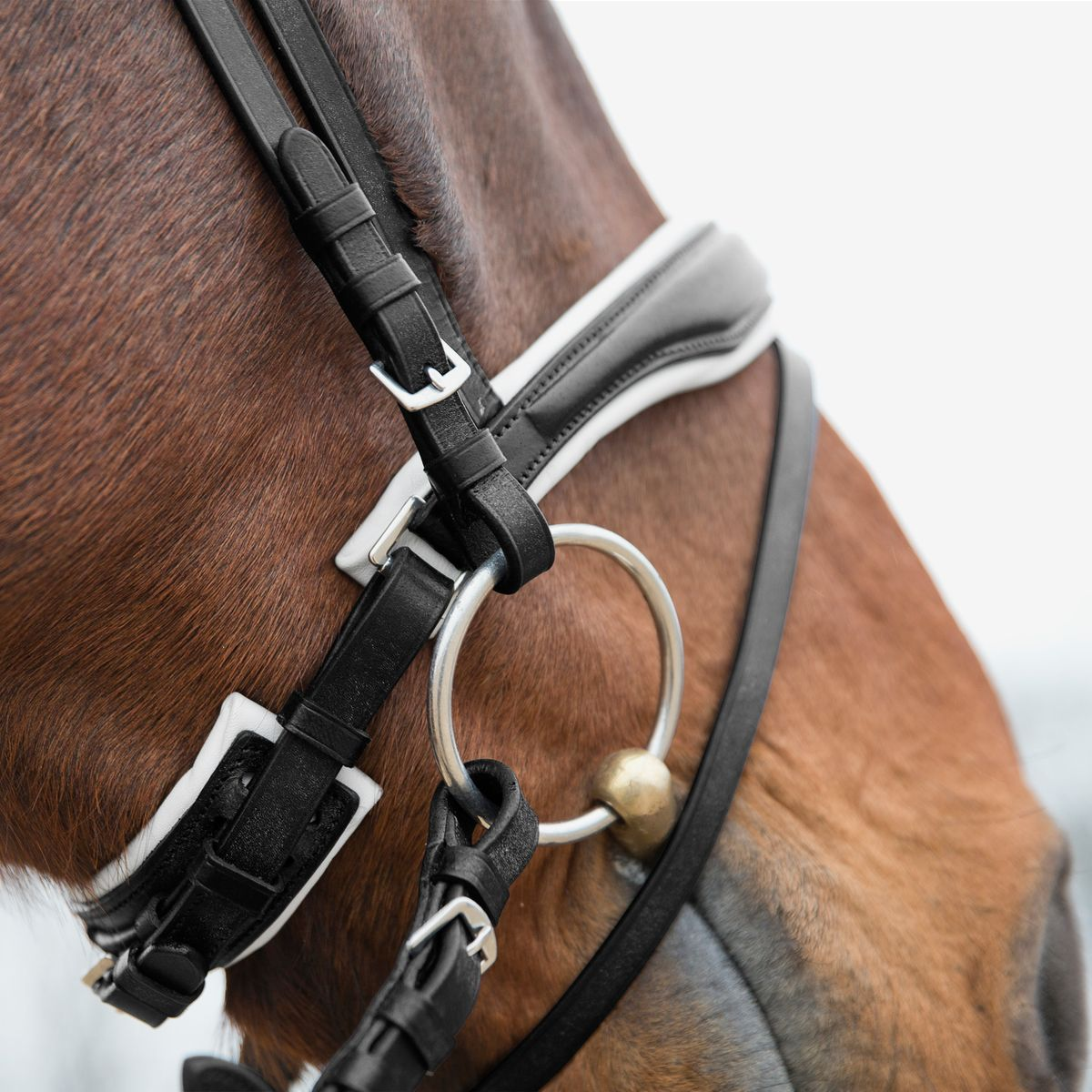 Horze-Rohan-Leather-Curved-Padded-Snaffle-Bridle-with-Rhinestone-Browband miniature 21