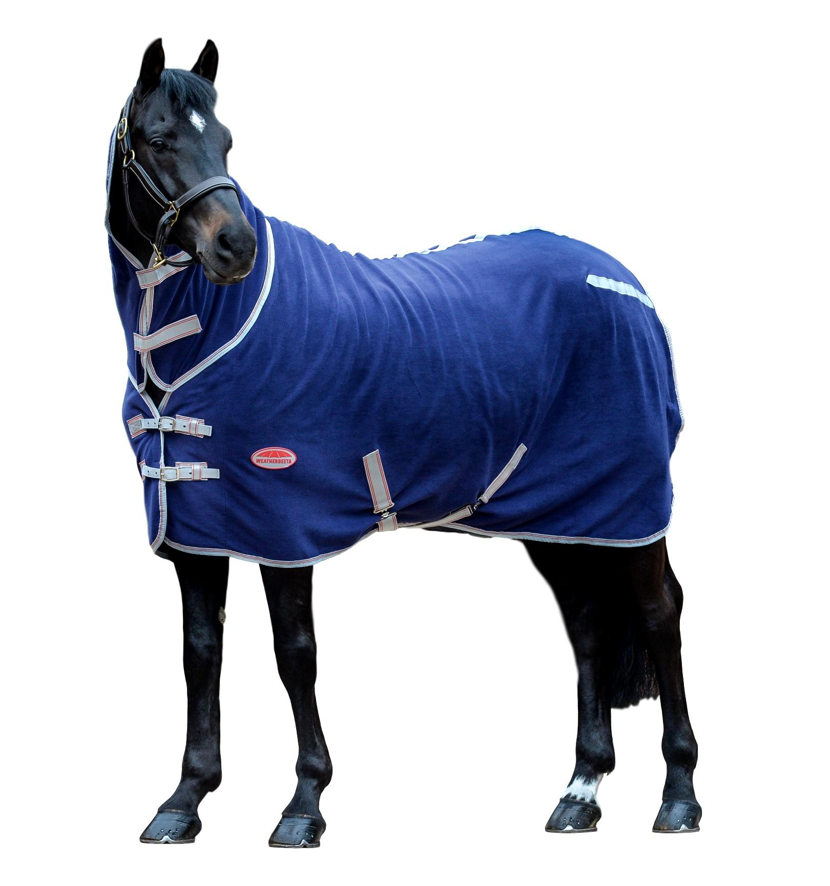 Weatherbeeta-Fleece-Cooler-Sheet-Combo-with-Neck-Cover-and-Lined-Shoulders miniature 8