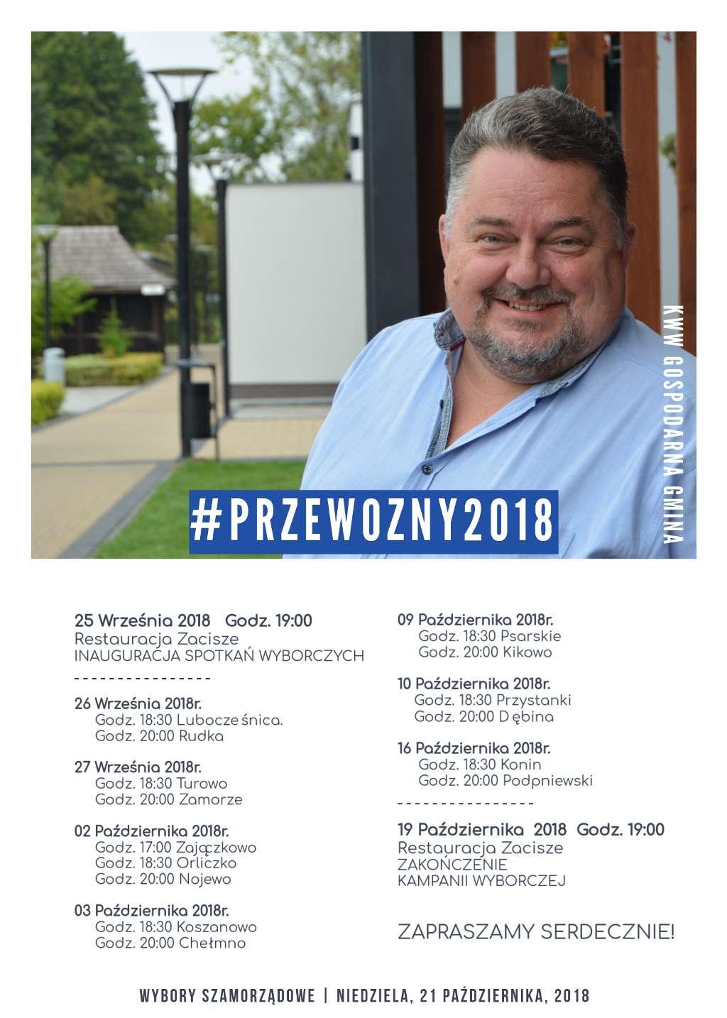 Harmonogram spotkań wyborczych KWW Gospodarna Gmina
