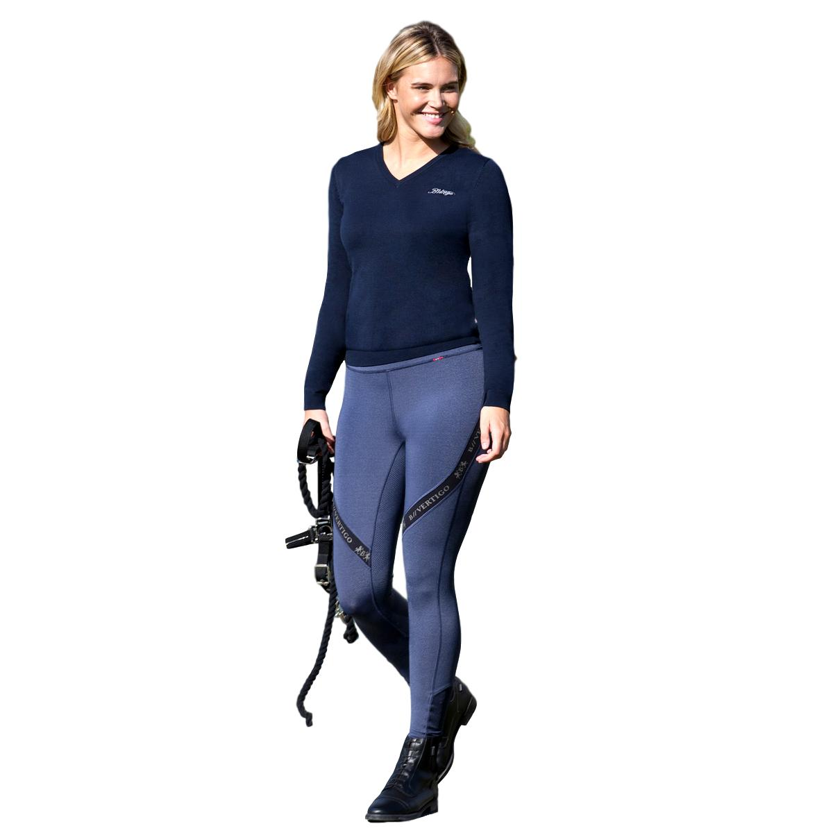 B Vertigo Jenny Ultra Comfort Quick Dry Womens Silicone Full Seat Riding Tights
