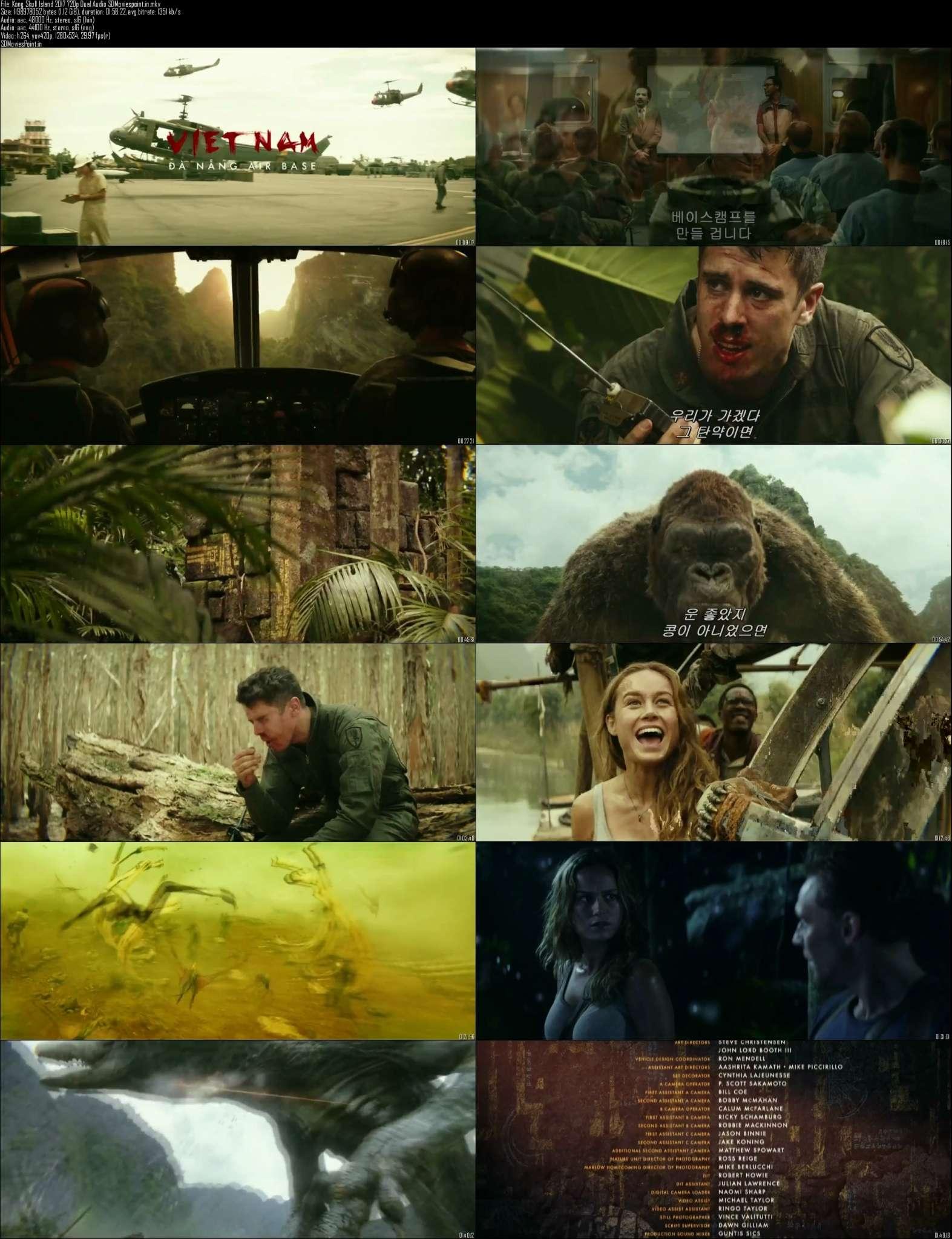 Screen Shots Kong Skull Island Full HD Movie Download Dual Audio in Hindi 720p