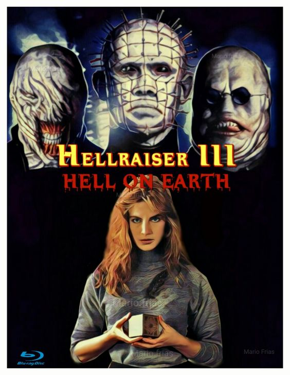 Poster Hellraiser 3 Hell on Earth Full Free Dual Audio Movie Download 300MB