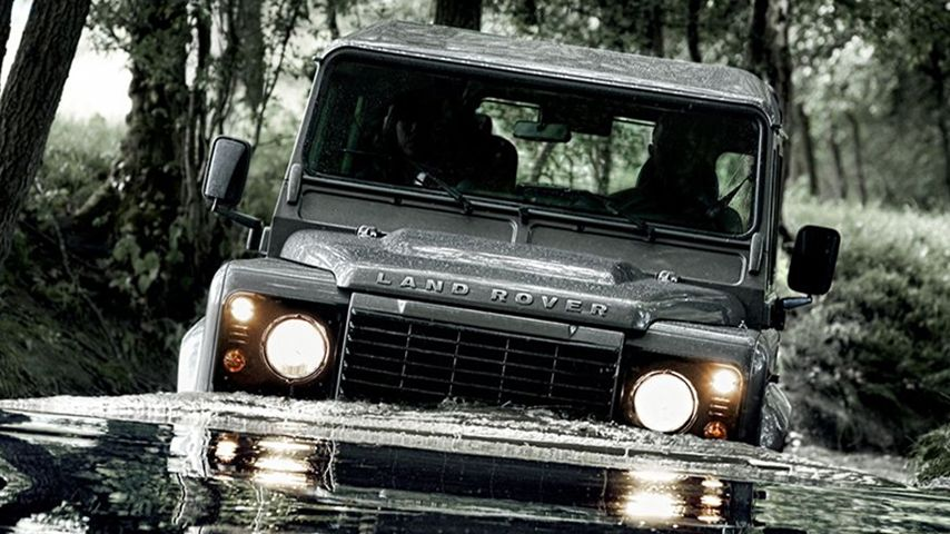 Land Rover Defender Water Crossing