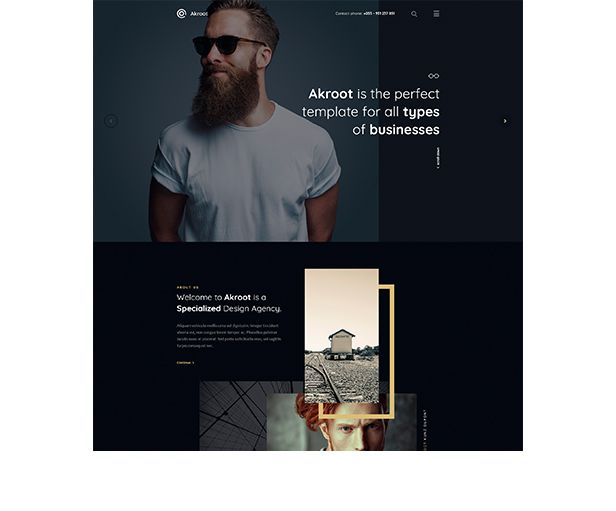 Akroot | It is the Multi-purpose Creative HTML5 Template - 3