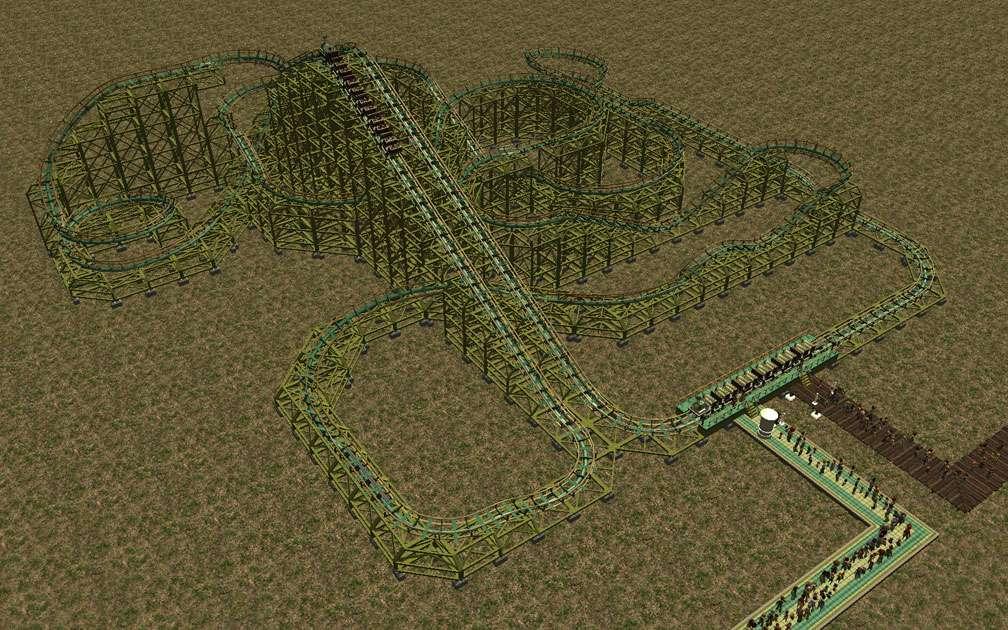 My Downloads - Parks and Coasters - Coaster: Miner '49'er - Demo Screenshot, Image 03