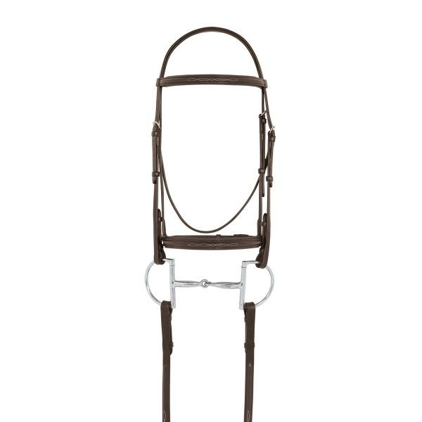 Camelot Padded Fancy Stitched Raised Padded Camelot Snaffle Bridle with 5/8