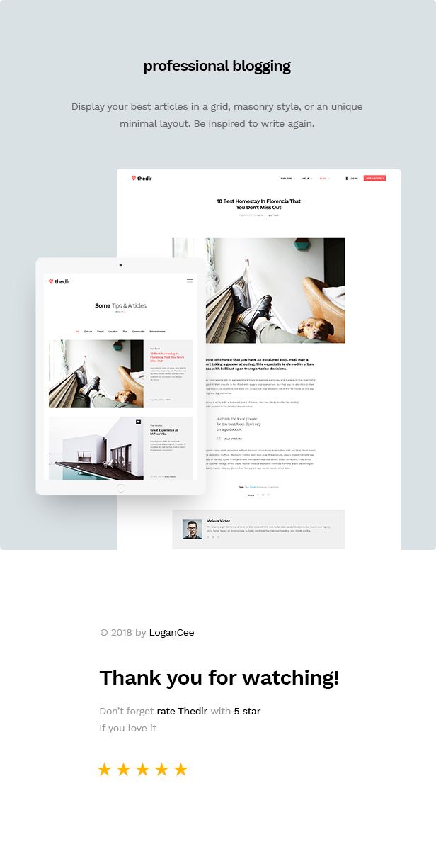 Thedir | Unlimited Listing & Directory PSD Template - 8