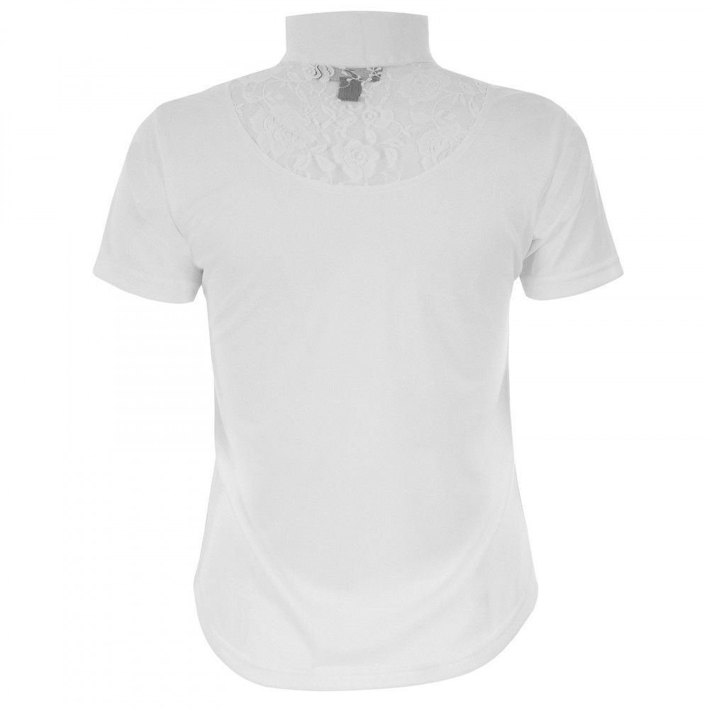 Horze-Women-039-s-UV-Quick-Dry-Lace-Detail-Show-Shirt-with-Zipper-at-Collar thumbnail 6