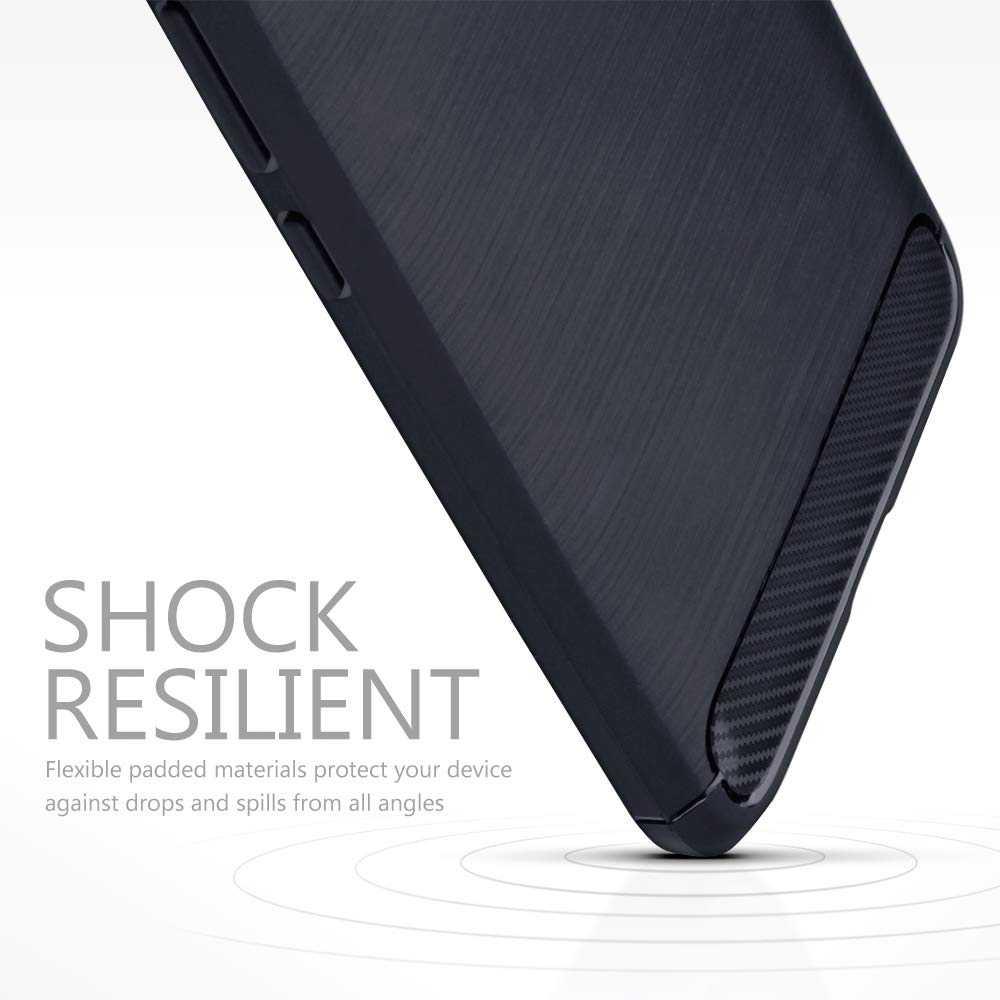 Coque-Etui-Housse-Silicone-brossee-Fibre-de-carbone-Noir-Protection-Huawei miniature 28