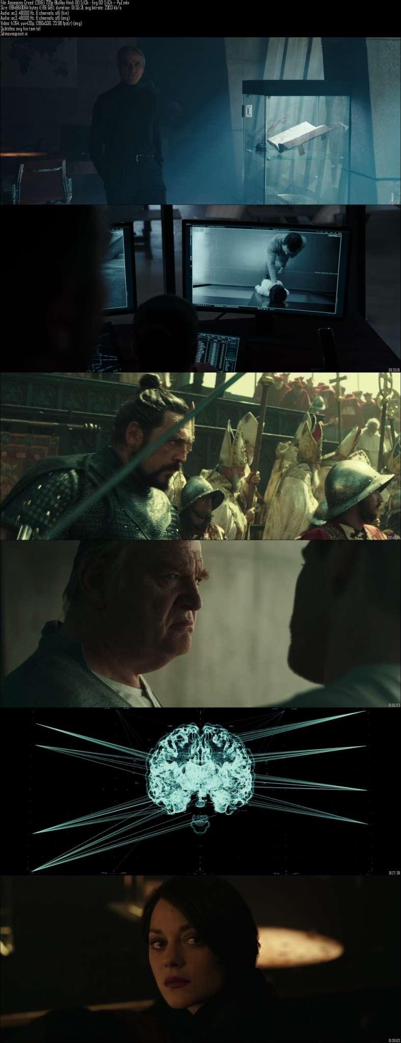 Screen shots Assassin's Creed 2016 Full HD Movie Download In Hindi Dual Audio 720p