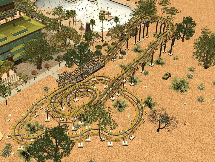 My Downloads - Parks and Coasters - Coaster: Kiddie Woodie - Demo Screenshot, Image 02