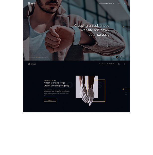 Akroot | It is the Multi-purpose Creative HTML5 Template - 7
