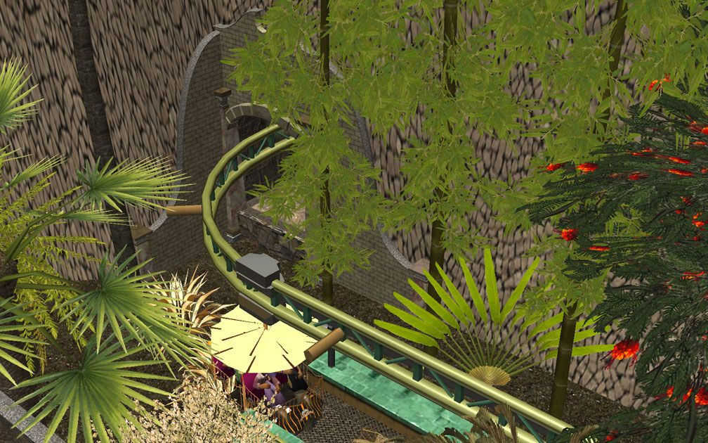 My Projects - CSO's I Have Imported, Walls, Tunnels, and Fences - Tunnel Entrance at Volo daVinci Station Above Pool Complex, Image 01