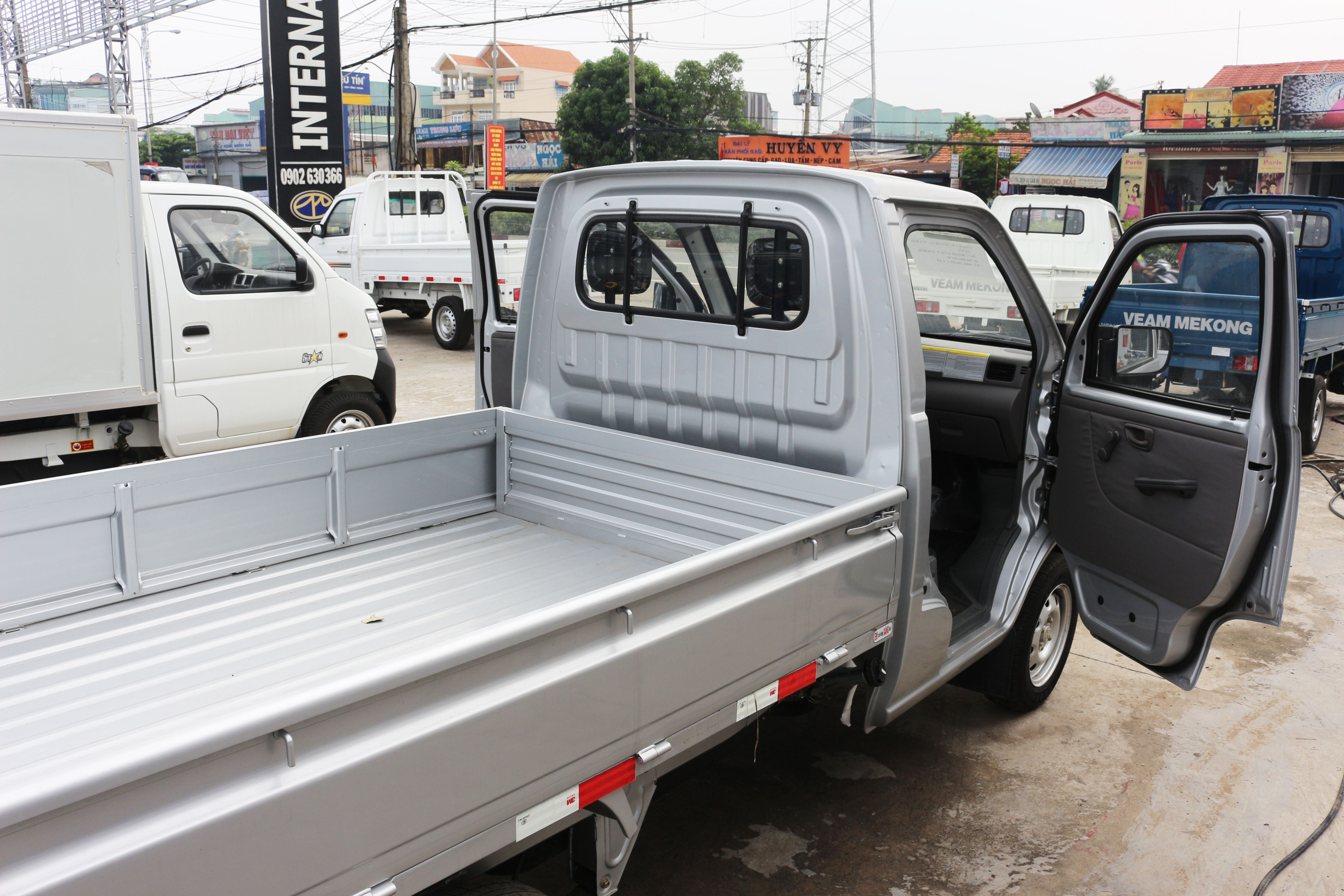 Thùng xe dongben 870kg thùng lửng - ô tô tải mới