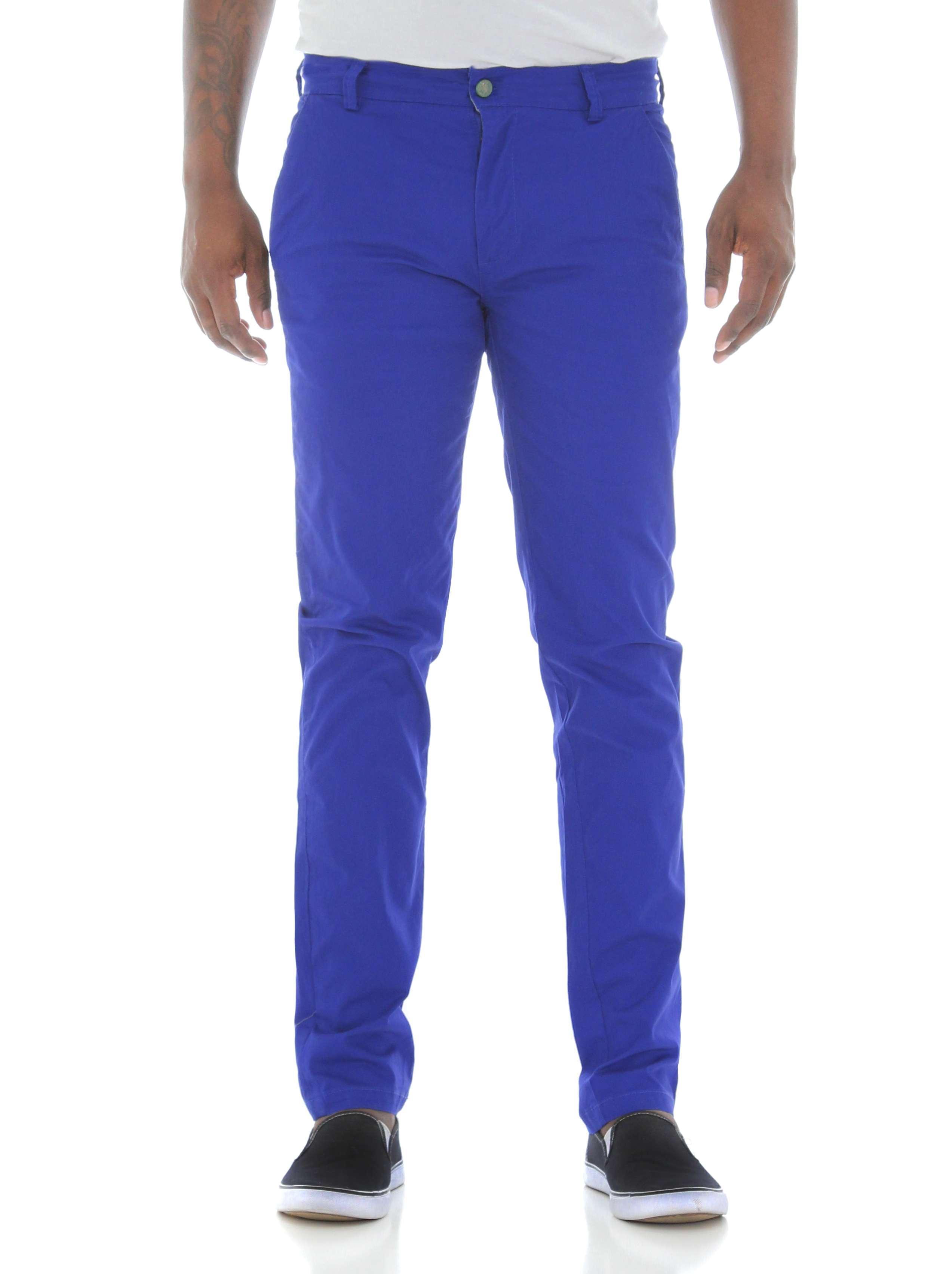 d2ecadcab51f8 Royal Blue Men s Skinny Fit Stretch Twill Chino Pants