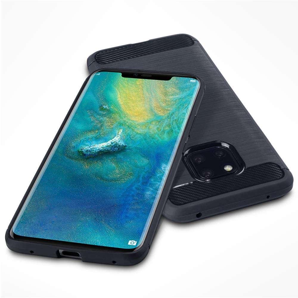 Coque-Etui-Housse-Silicone-brossee-Fibre-de-carbone-Noir-Protection-Huawei miniature 29