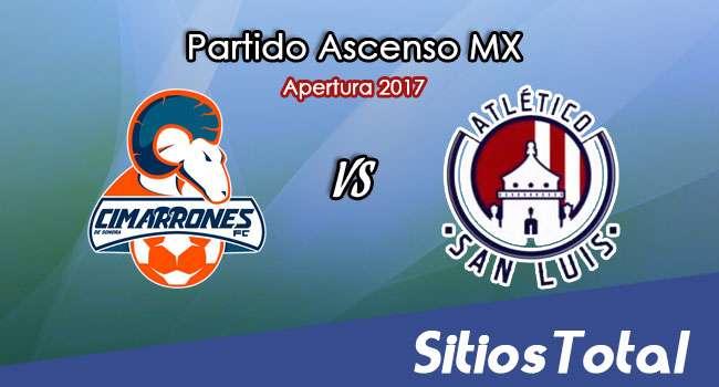 Cimarrones de Sonora vs Atlético San Luis en Vivo – Online, Por TV, Radio en Linea, MxM – Apertura 2017 – Ascenso MX