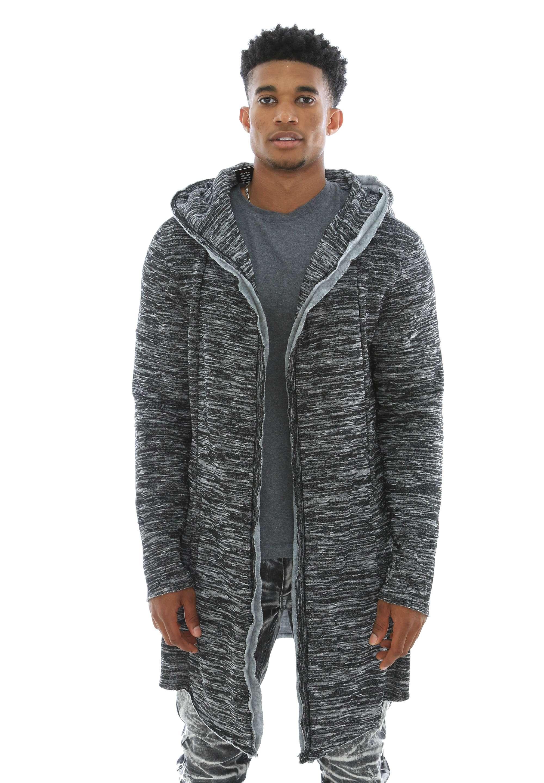 Imperious Men's Fleece Open Cardigan Hooded Sweatshirt S Black | eBay