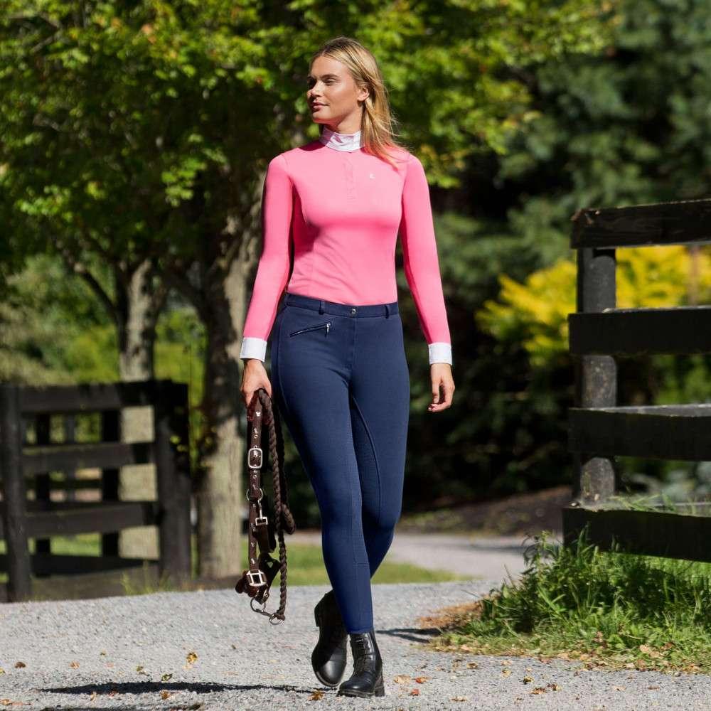 Horze-Women-039-s-Active-Silicone-Grip-Full-Seat-Riding-Breeches-Elastic-Leg-Bottoms thumbnail 25