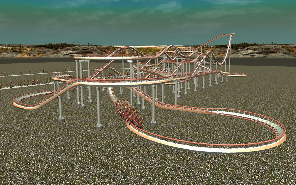 My Downloads - Parks and Coasters - Coaster: Peppermint Twist - Demo Screenshot, Image 02