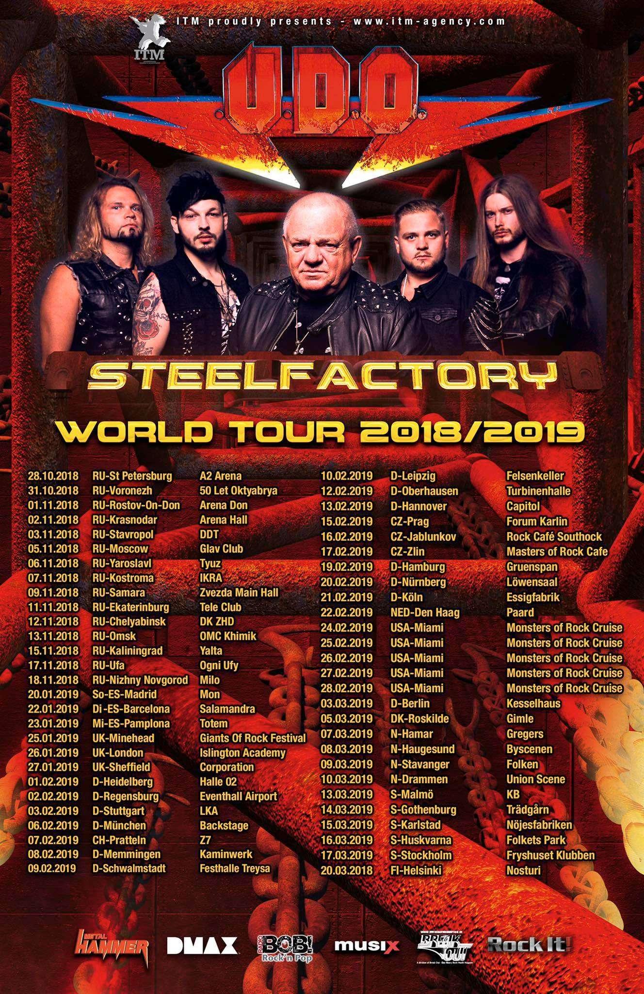 U.D.O. Steelfactory World Tour 2019