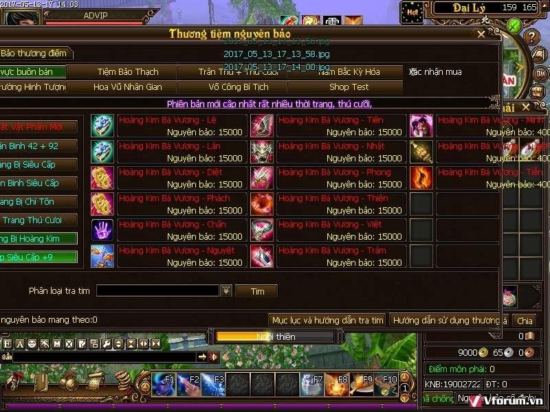game index vn tlbb bavuong