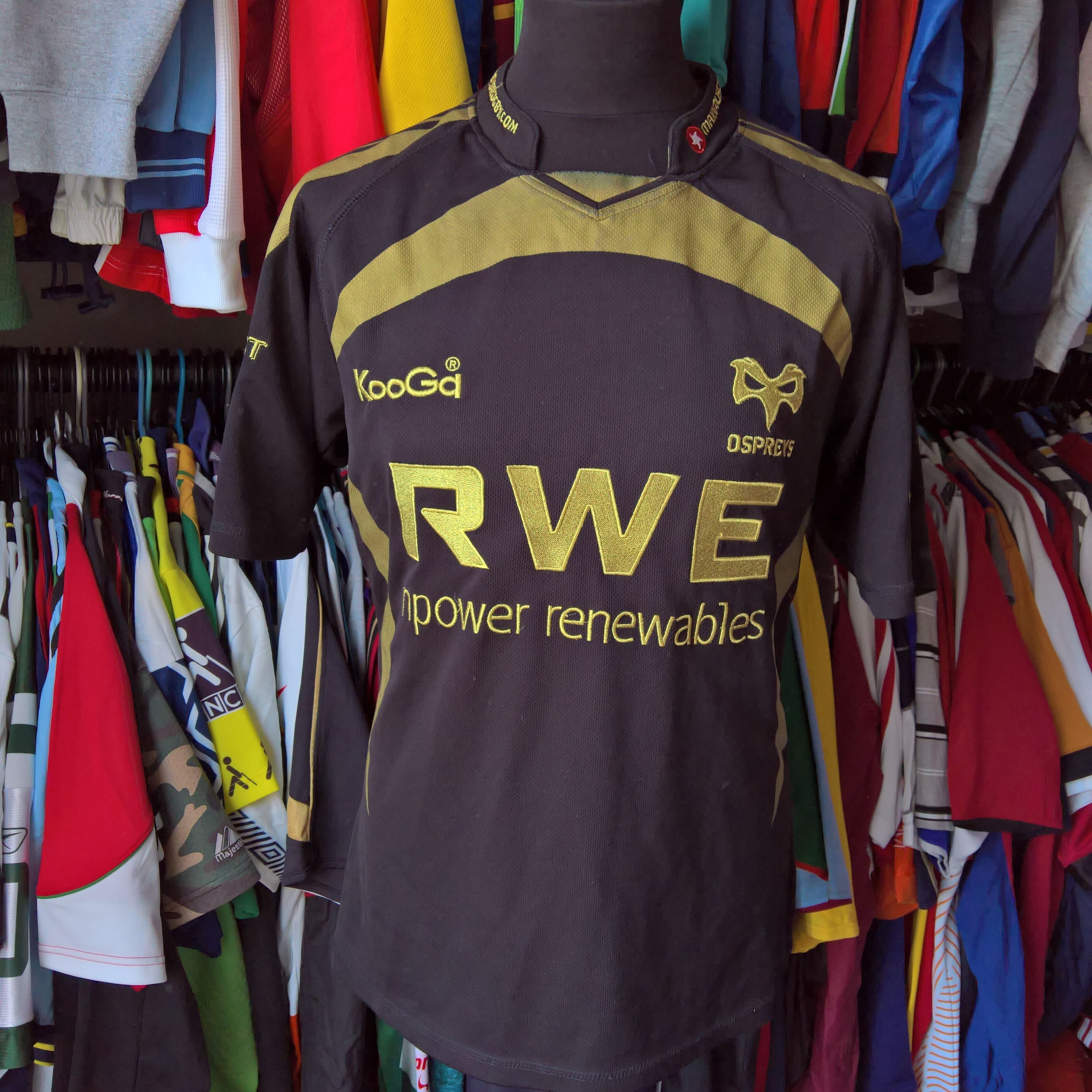 Azerbaijan Rugby Union Official Home: OSPREYS 2009 HOME Union Rugby Shirt Kooga Jersey Size