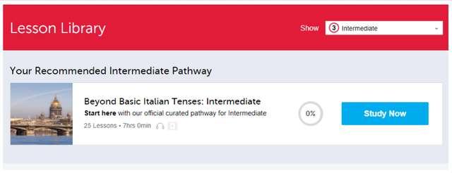 ItalianPod101 Lesson Library