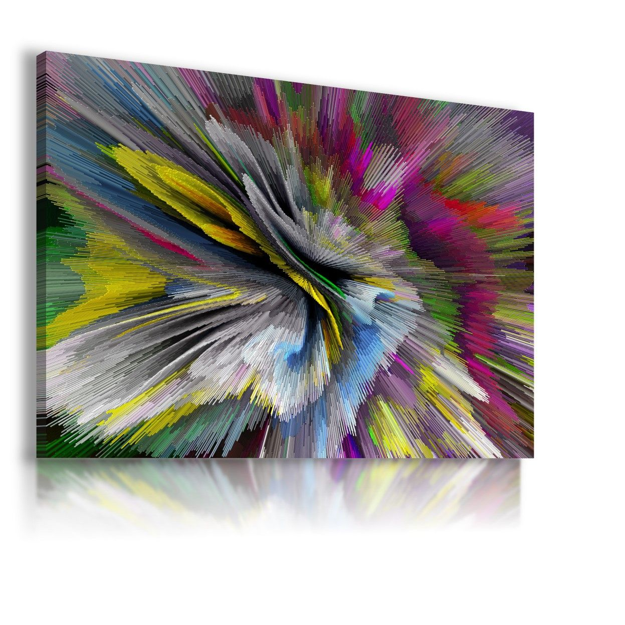 COLORFUL BOMB PATTERN MODERN ABSTRACT CANVAS WALL ART PICTURE LARGE WS176 MATAGA