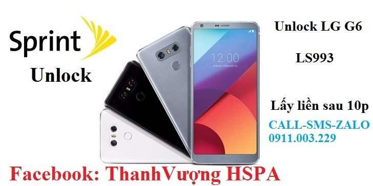 LG G6 Sprint LS993 ''Usim không hợp lệ'' khóa mạng unlock mở mạng