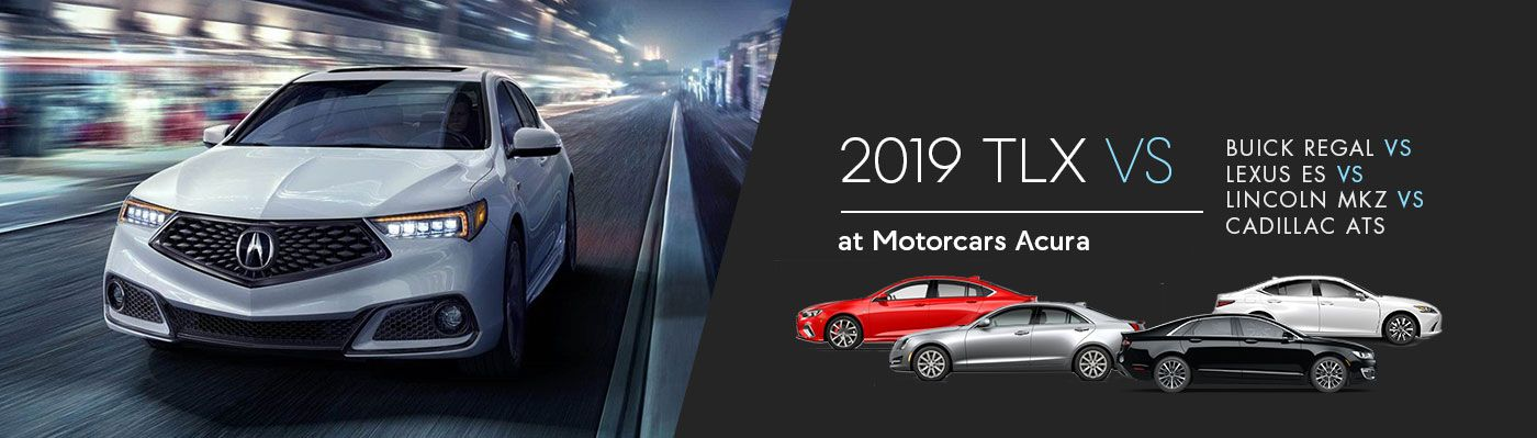 2019 Acura TLX vs. Lexus ES vs Lincoln MKZ vs Buick Regal vs Cadillac ATS
