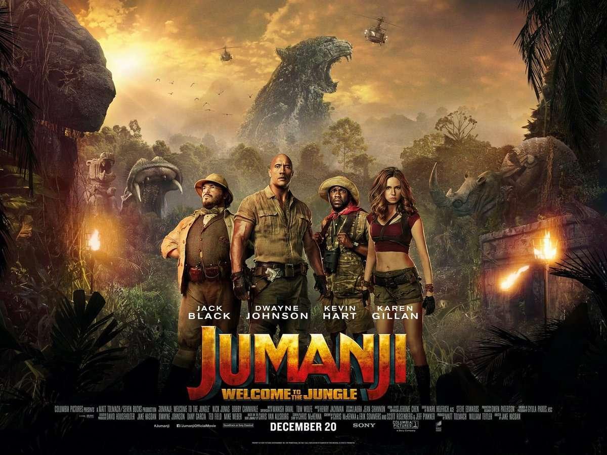 Jumanji: Καλωσήρθατε στη ζούγκλα (Jumanji: Welcome To The Jungle Quad Poster Πόστερ