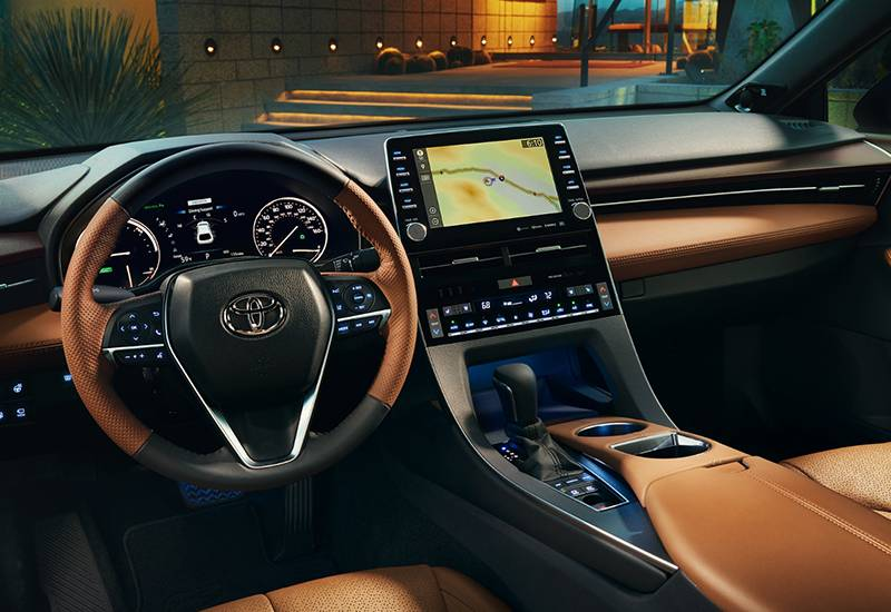 2019 Toyota Avalon Hybrid Interior Cognac Leather