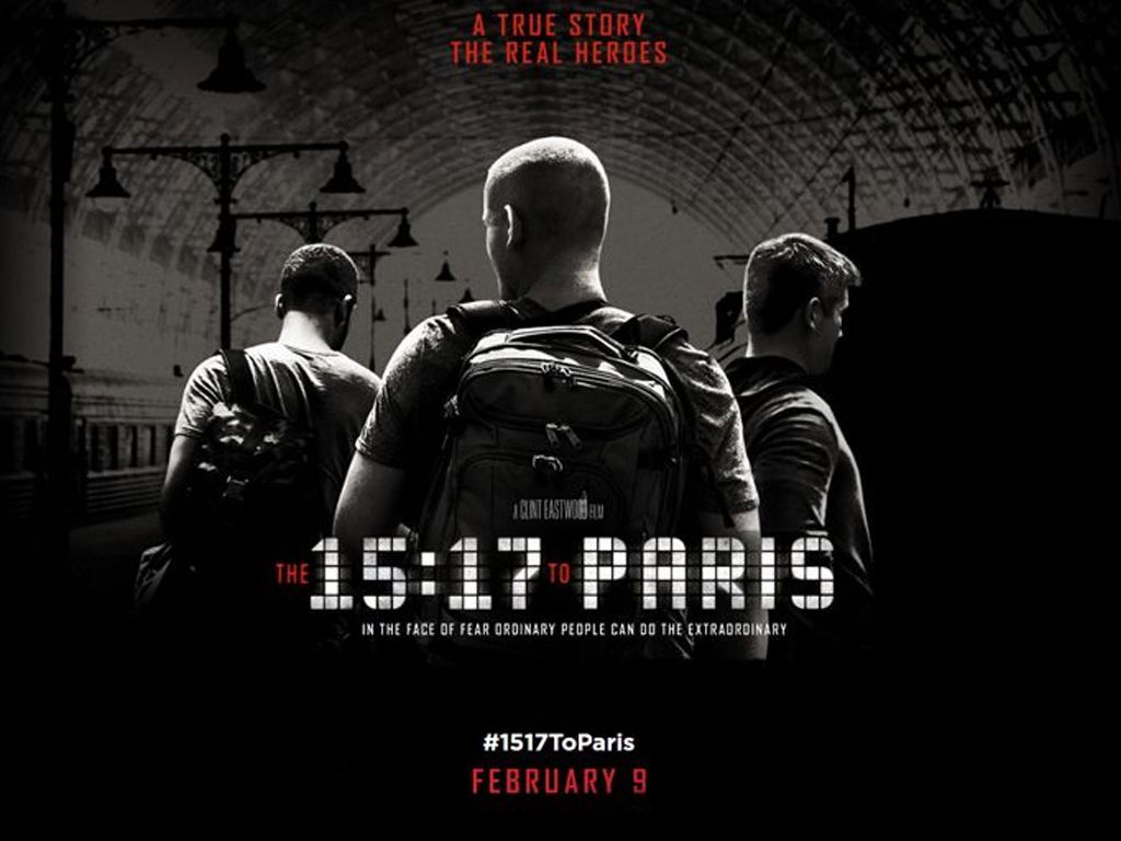Αναχώρηση για Παρίσι 15:17 (The 15:17 to Paris) Quad Poster Πόστερ