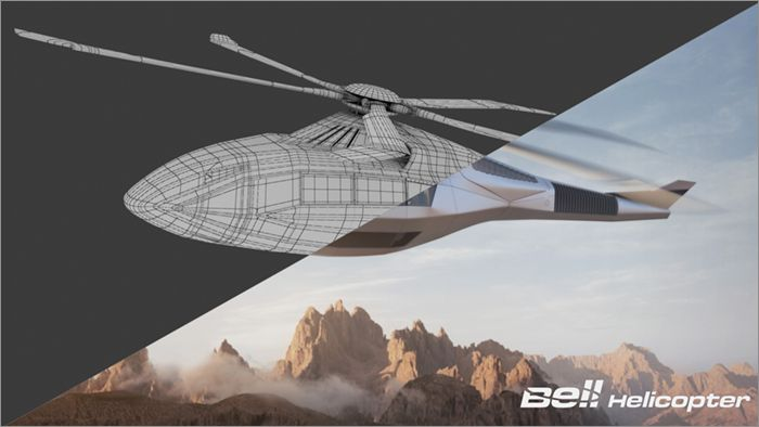 Bell FCX-001 Wireframe 02