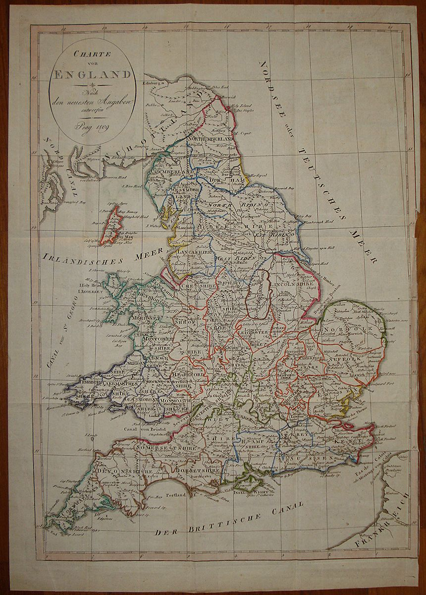 Cartina Geografica Inghilterra Da Stampare.Old Map 1809 England Inghilterra Uk Mappa Carta Geografica Stampa Antica Print Ebay