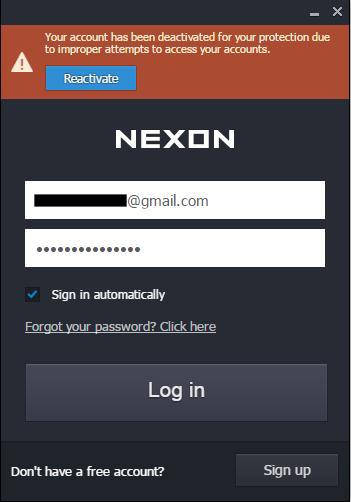 I can't login my account in Nexon Launcher !!! - MapleStory