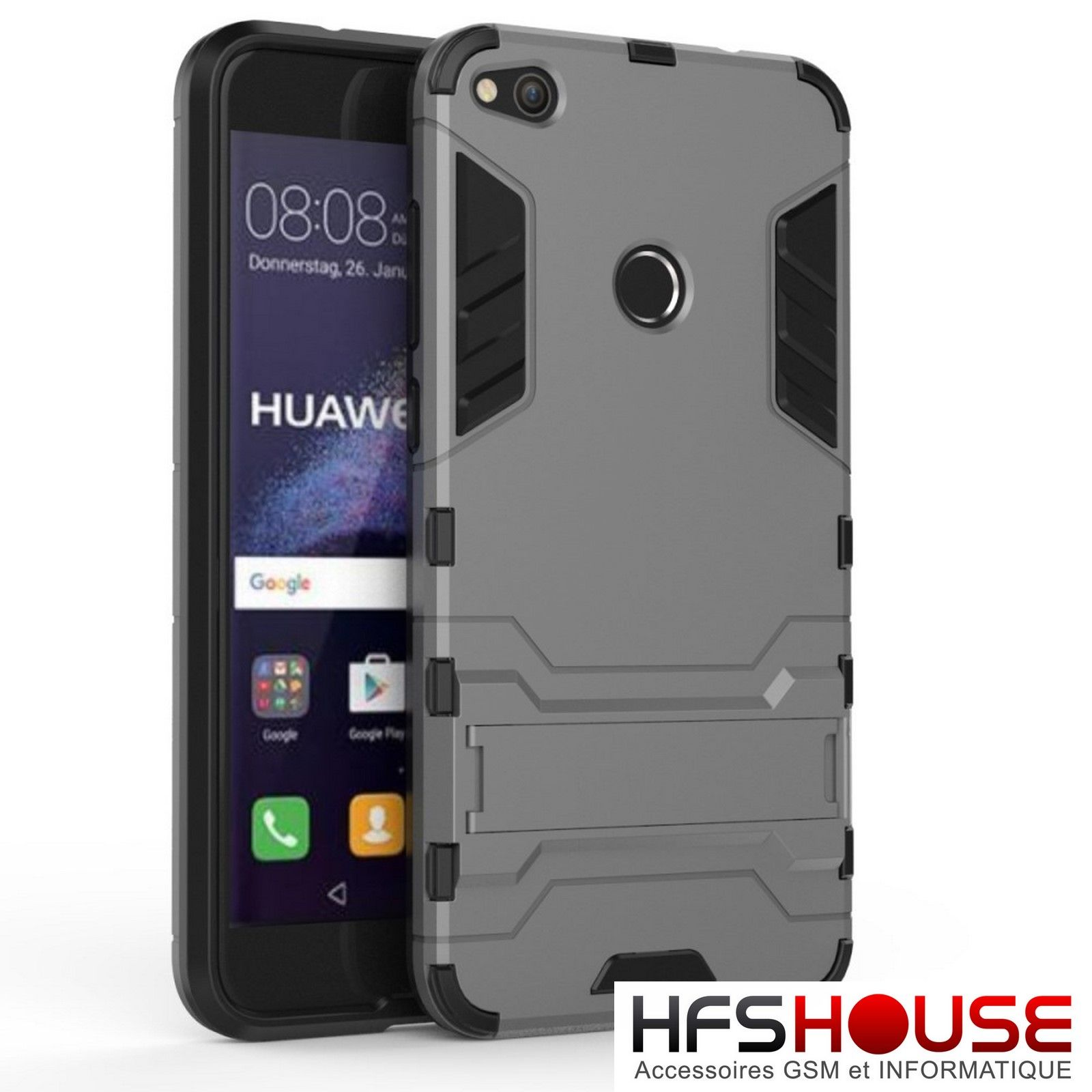 pour huawei p8 lite 2017 coque housse etui anti choc case. Black Bedroom Furniture Sets. Home Design Ideas