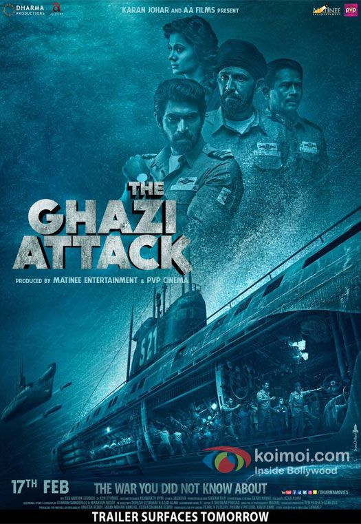 Poster The Ghazi Attack 2017 Full Hindi Movie Download HD 1GB