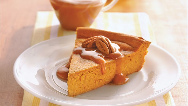 Pumpkin Cheesecake with Caramel and Pecans