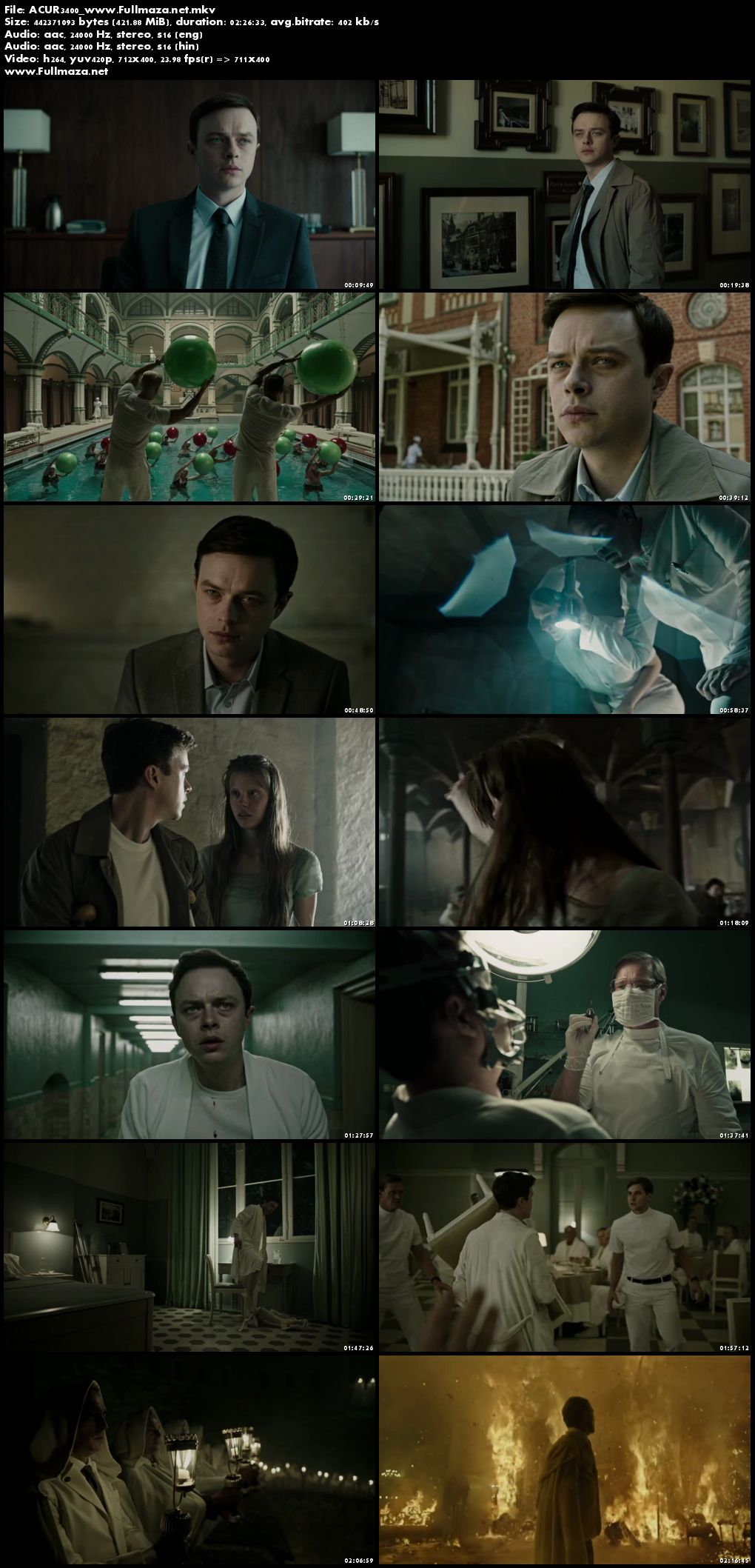 Screen Shots A Cure For Wellness (2016) Full Hindi Movie Download Dual Audio 720p