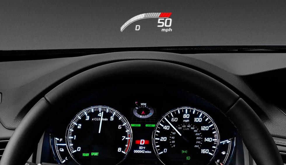 2019 Acura RLX Performance Head Up Display