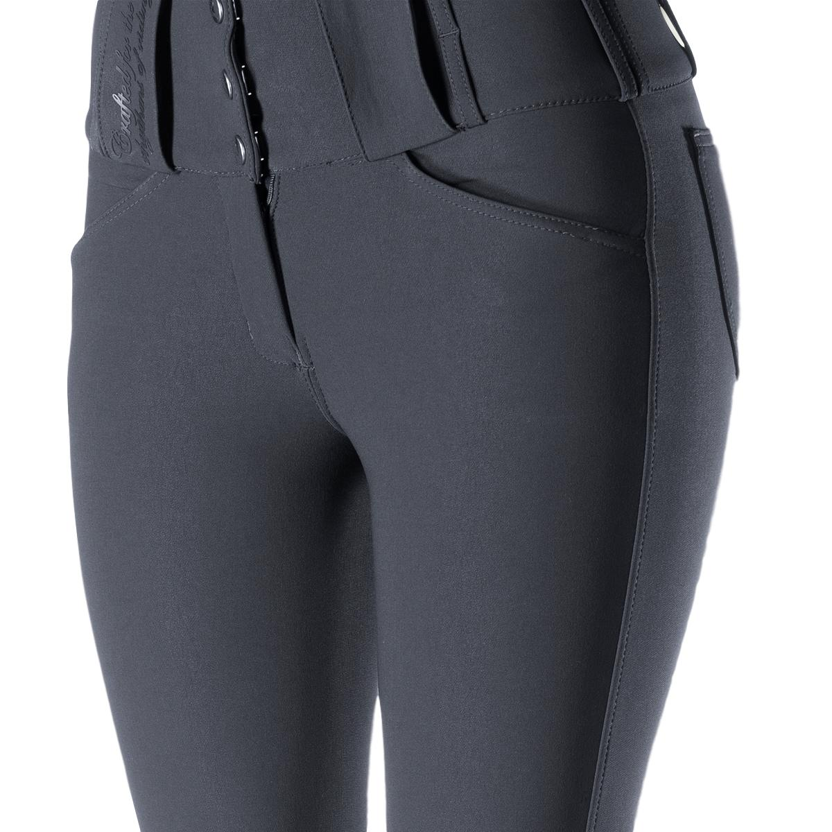 Horze-Desiree-Women-039-s-Knee-Patch-Riding-Breeches-with-High-Waist-and-Bi-Stretch thumbnail 17