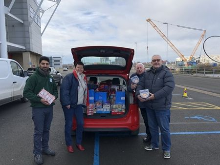 Food Bank car load