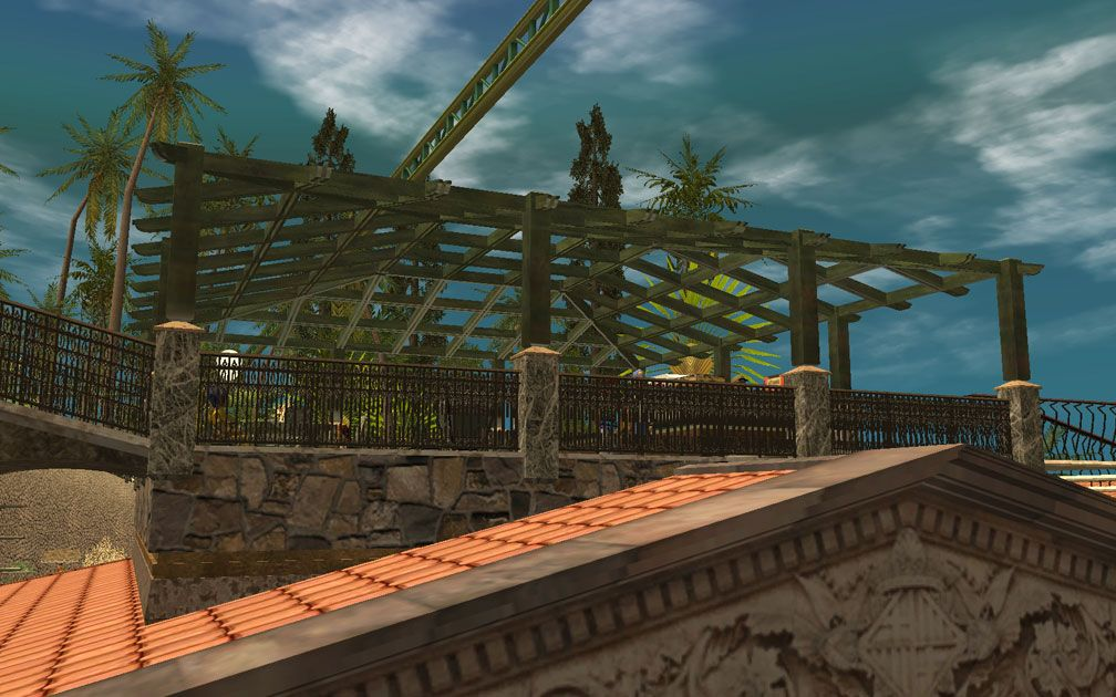 My Projects - CSO's I Have Imported, Pergolas Set - The Sandwich Terrace, View Upwards From Pool Complex, Image 02