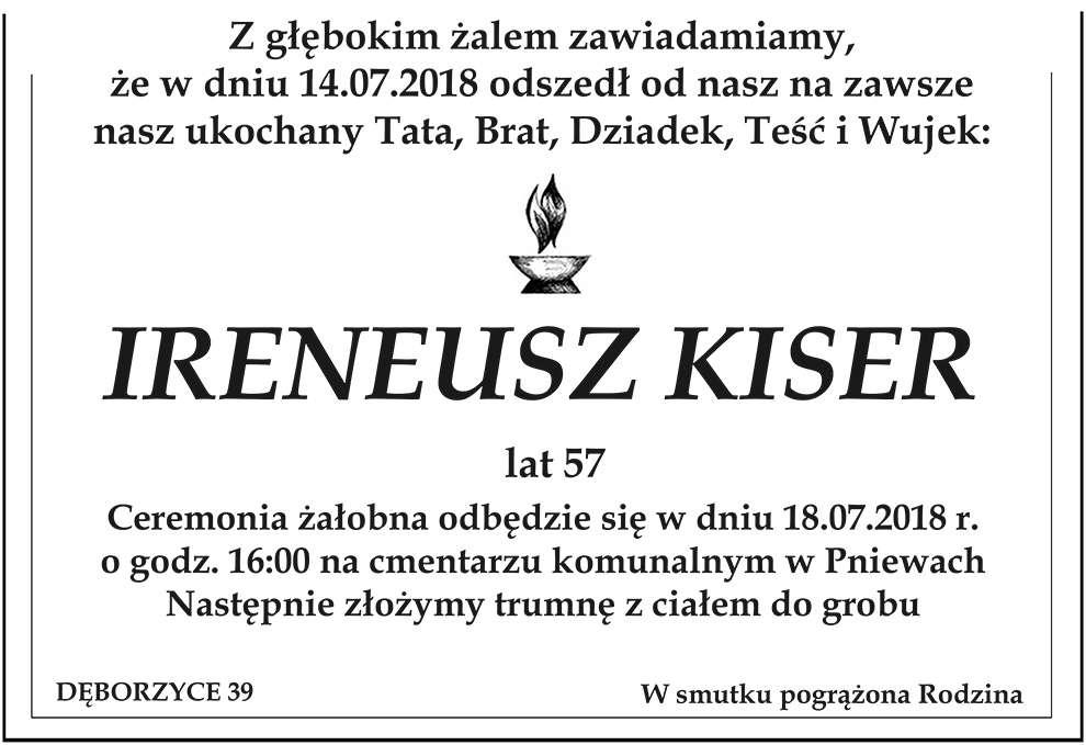 Żyli wśród nas – Ireneusz Kiser