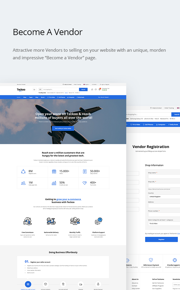 Teckoo - Electronic & Technology Marketplace eCommerce PSD Template - 12